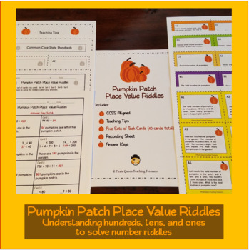 Pumpkin Patch Place Value Riddles/ CCSS Aligned 2nd - 4th Grades