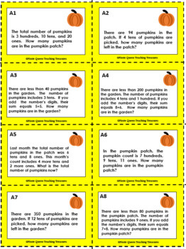 Pumpkin Patch Place Value Riddles FREEBIE!/CCSS Aligned 2nd - 4th Grades