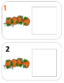 Pumpkin Patch Play Doh Counting Mats