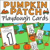 Pumpkin Patch Playdough Cards with Pumpkin Spice Playdough Recipe