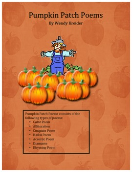 Fall Pumpkin Patch Poems