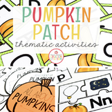 PUMPKIN THEME ACTIVITIES FOR PRESCHOOL, PREK AND KINDERGARTEN