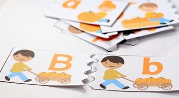 Pumpkin Patch Printable Alphabet Puzzle Cards