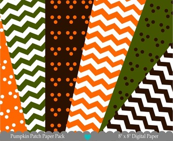Pumpkin Patch Printable Digital Papers