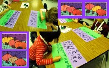 Pumpkin Patch Project ~ K-2 Landscape w/ Secondary Colors PowerPoint