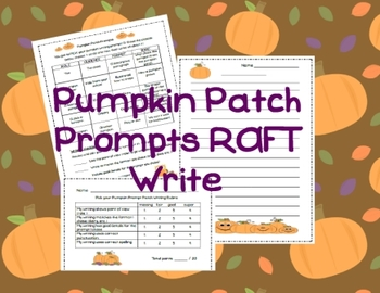 Pumpkin Patch Prompts RAFT Write
