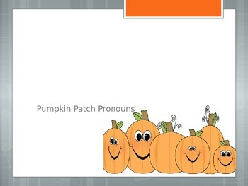 Pumpkin Patch Pronouns