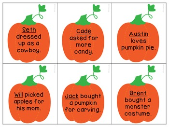 Pumpkin Patch Pronouns for Speech Therapy