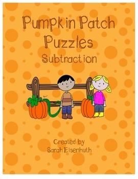 Pumpkin Patch Puzzles Subtraction