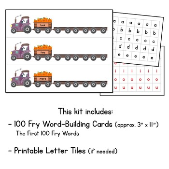 Pumpkin Patch Read and Build Sight Words - With The First 100 FRY Words