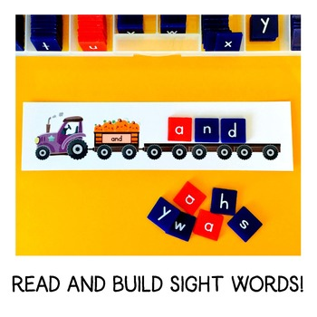 Pumpkin Patch Read and Build Sight Words - With The SECOND 100 FRY Words