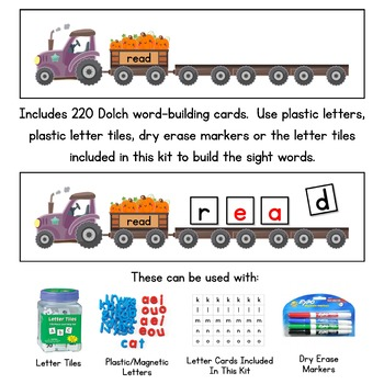 Pumpkin Patch Read and Build Sight Words - With all 220 Dolch Sight Words