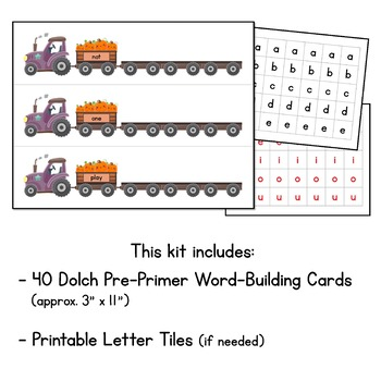 Pumpkin Patch Read and Build Sight Words - With all 40 Pre-Primer Dolch Words