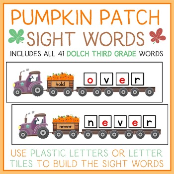 Pumpkin Patch Read and Build Sight Words - With all 41 Third Grade Dolch Words