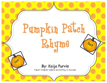Pumpkin Patch Rhyme