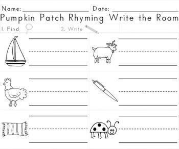 Pumpkin Patch Rhyming