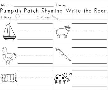 Pumpkin Patch Rhyming