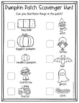Pumpkin Patch Scavenger Hunt