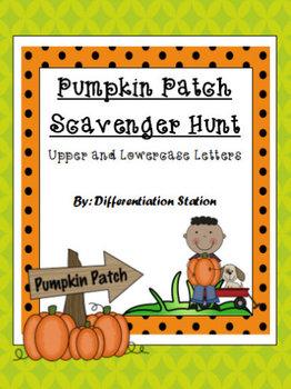 Pumpkin Patch Scavenger Hunt: Upper and Lowercase Alphabet