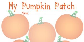 Pumpkin Patch Seed Sorting Sheet 1-5