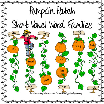Pumpkin Patch Short Vowel Word Families