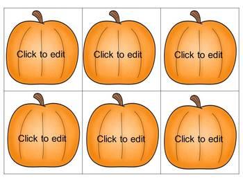 Pumpkin Patch Sight Word Match