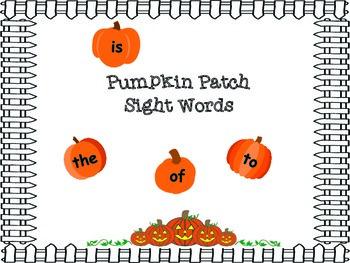 Pumpkin Patch Sight Words Center Game
