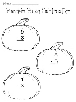 Pumpkin Patch Single-Digit Subtraction