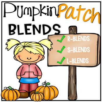 Pumpkin Literacy Center - Sorting L Blends, R Blends, and S Blends