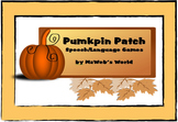 Pumpkin Patch Speech and Language Games by MzWeb's World