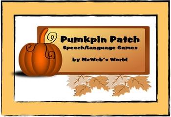 Pumpkin Patch Speech and Language Games by MzWeb's World