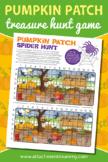 Pumpkin Patch Spider Hunt Treasure Hunt game printable