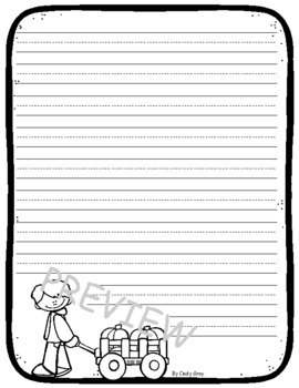 Pumpkin Patch Stationery ~ Narrative Writing