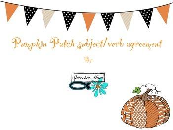 Pumpkin Patch Subject Verb Agreement