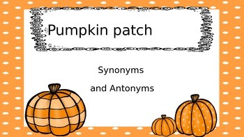 Pumpkin Patch Synonyms and Antonyms