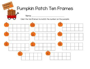 Pumpkin Patch Ten Frame