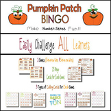 Pumpkin Patch Ten Frame Bingo - Set 2- Practice Numbers 1-