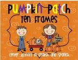 Pumpkin Patch Ten Frame Center Activity in English or Spanish
