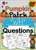 Pumpkin Patch WH Questions Activity