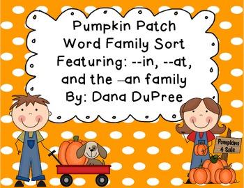 Pumpkin Patch Word Sort