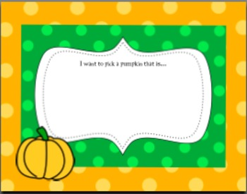 Pumpkin Patch Writing