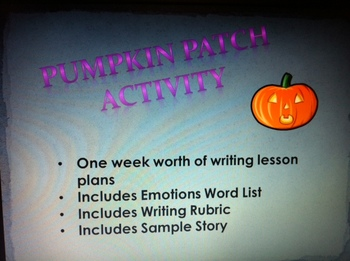 Pumpkin Patch Writing Activity