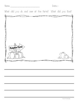 FREEBIE!  Pumpkin Patch Writing Prompt