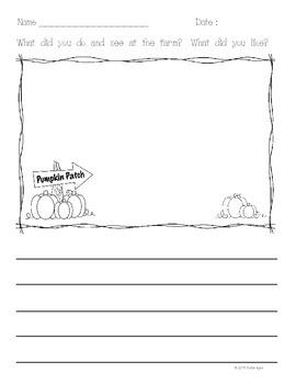 FREEBIE!  Pumpkin Patch Writing Prompt