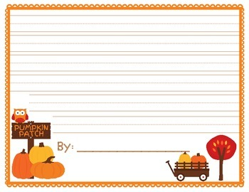 Pumpkin Patch Writing Template
