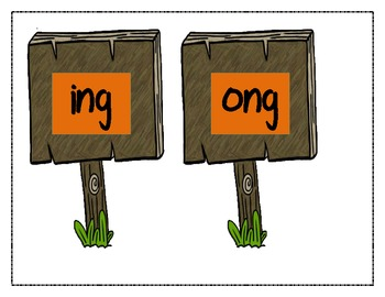 Pumpkin Patch of Consonant Diphthong /ng/ Word Sort