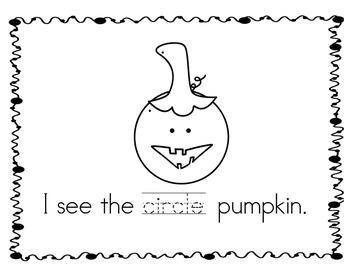 Pumpkin Patch of Shapes Book - Emergent Reader - Based on Spookley!!