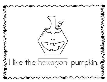 Pumpkin Patch of Shapes emergent reader VERSION 2 - Based on Spookley!!