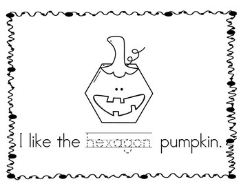 Pumpkin Patch of Shapes emergent reader VERSION 2 - Based on Spookley!!