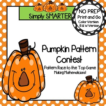 Pumpkin Pattern Contest: NO PREP Pattern Race to the Top Game | TpT